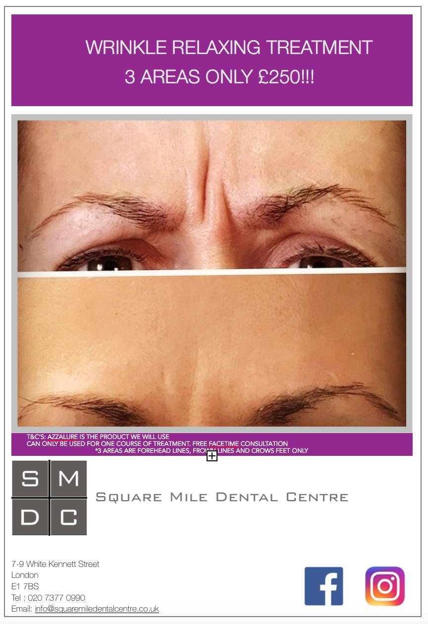 Square mile dental centre treat yourself to a wrinkle relaxing treatment offer in time for spring solutioingenieria Image collections